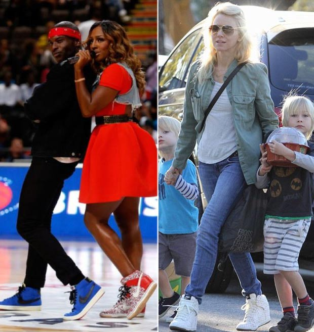 Celebrities wear Nike Wedge Sneakers