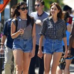 celebrities wearing shorts Alexa Chung Daisy Lowe