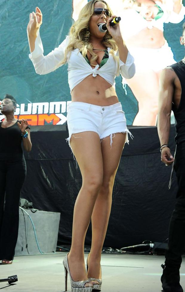 celebrities wearing shorts Mariah Carey