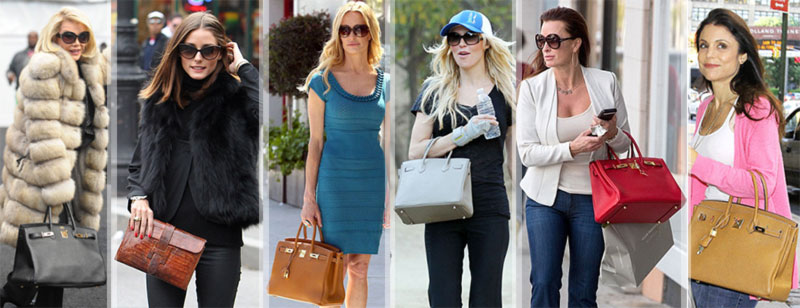 celebrities with fake Hermes bags Joan Rivers Olivia Palermo Taylor Armstrong Brandi Glanville Kyle Richards Bethenny Frankel