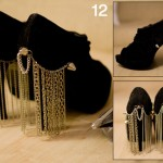 Chain Curtain high heels shoes final step