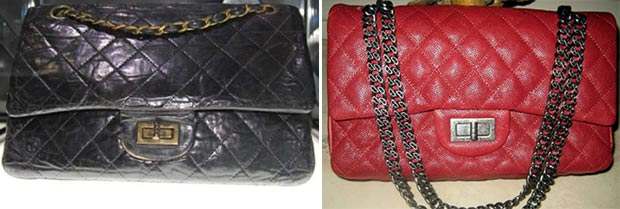 Chanel 2 55 bag various finishes