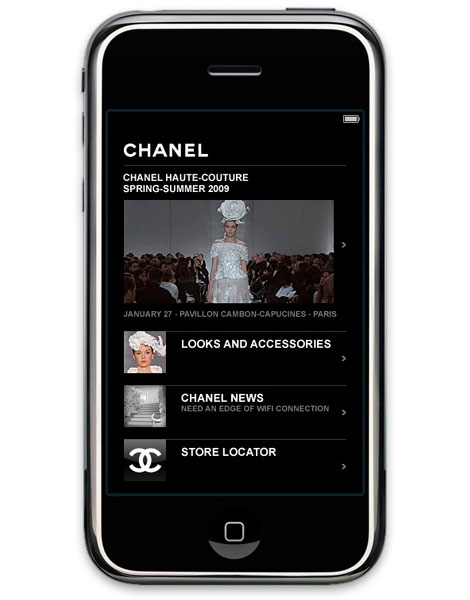 Chanel Application iPhone