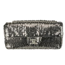 chanel clutch embroided with sequins