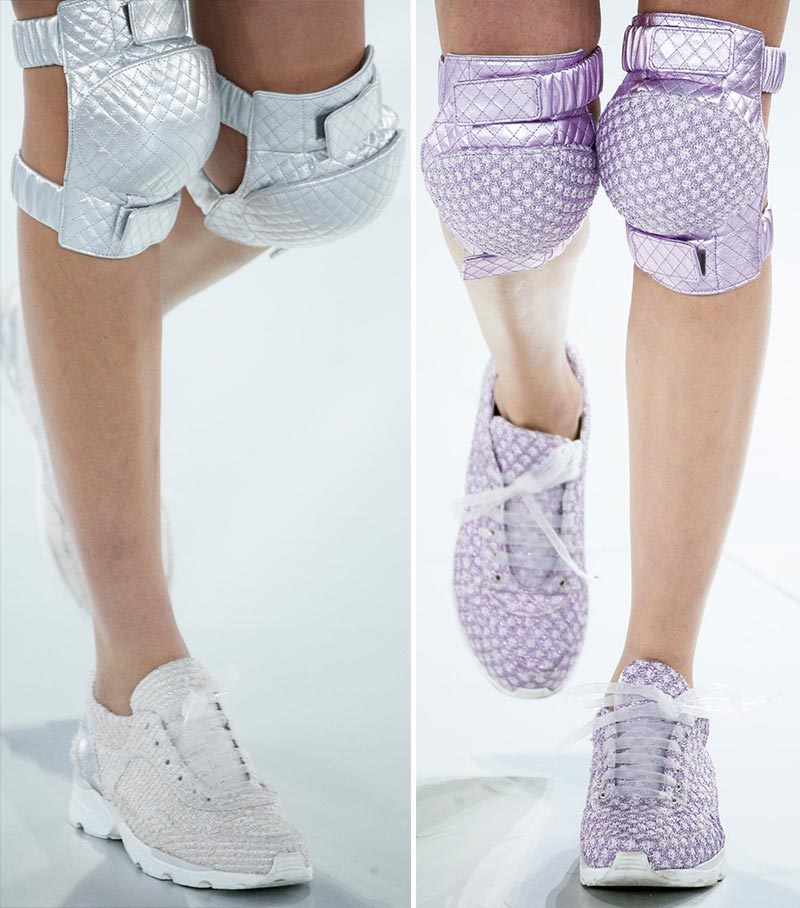 Chanel Couture quilted sneakers