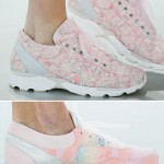 Chanel Couture soft pink sneakers