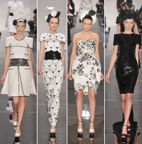 Chanel Couture Spring 09 black white