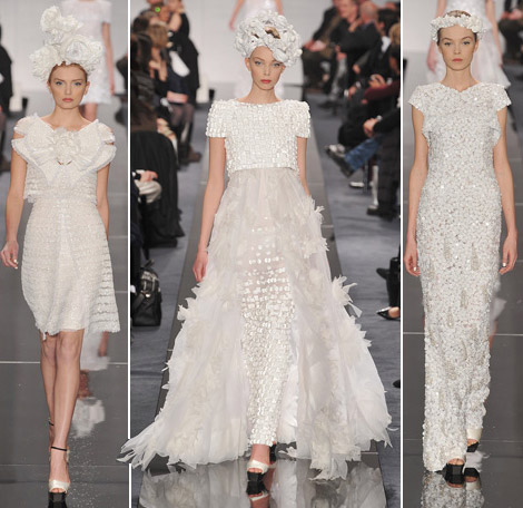 Chanel Couture Spring 09 white