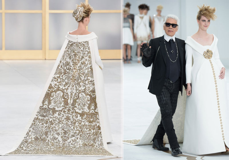 Chanel Couture wedding dress 450 hours