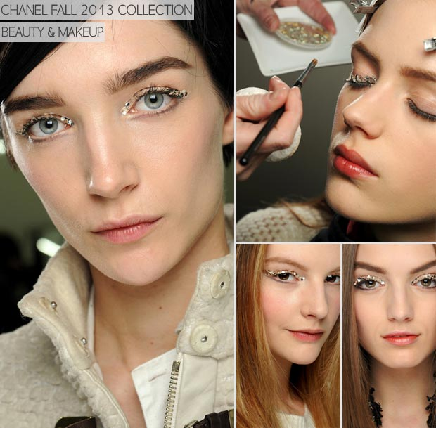 Chanel Fall 2013 beauty glitter makeup