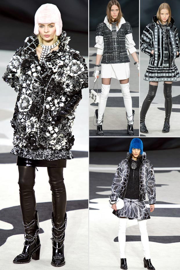 Chanel Fall 2013 collection black and white