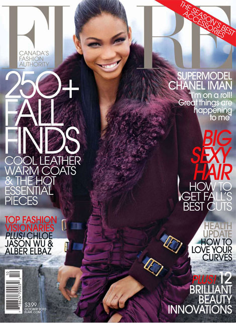 Chanel Iman Flare October 2010 cover