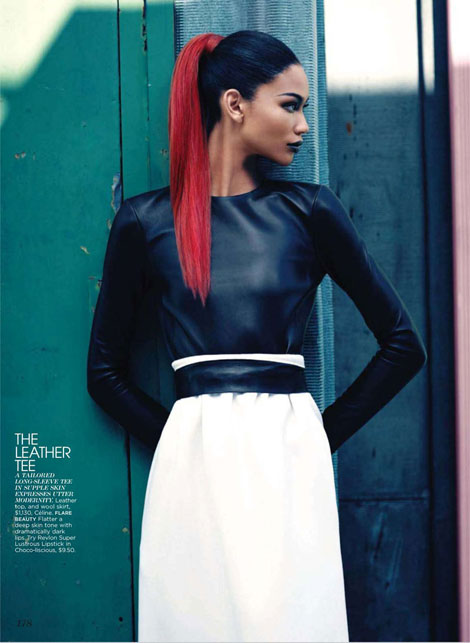 Chanel Iman Flare October 2010 photos Max Abadian