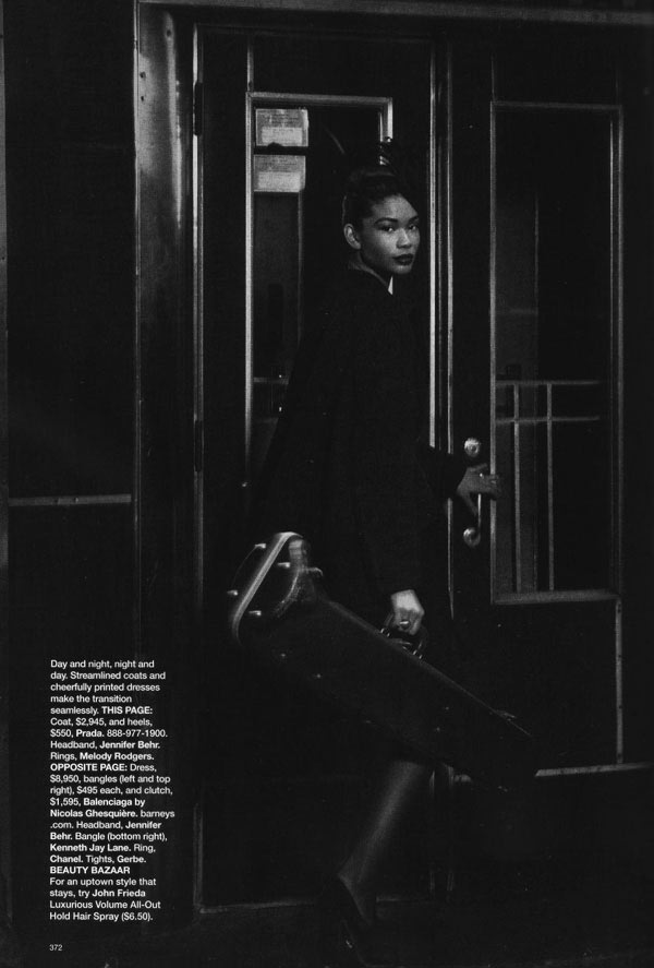Chanel Iman Harper s Bazaar September 2009 2