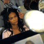 Chanel Iman Victoria s Secret backstage