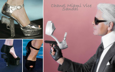 Chanel Miami Vice gun sandal