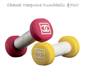 Chanel Neoprene Dumbbells For The Fit Fashionistas