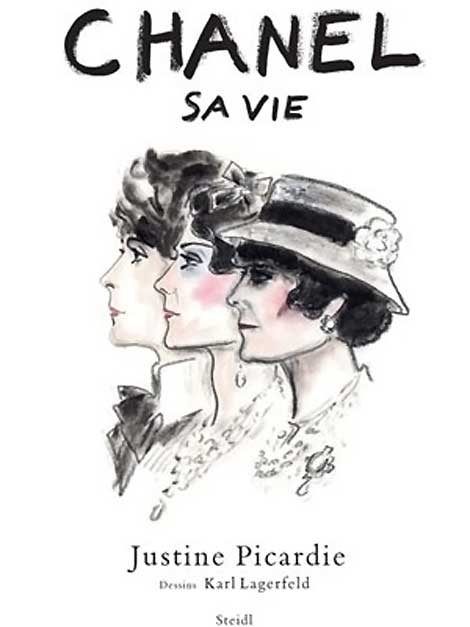 Karl Lagerfeld Sketches For Chanel Sa Vie, Justine Picardie's Book