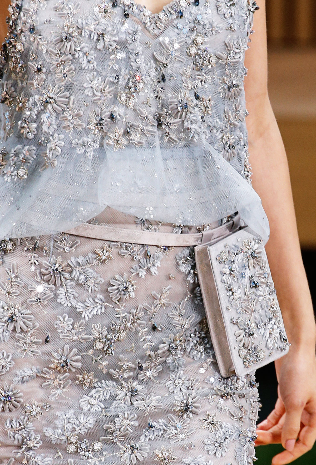 Chanel Spring 2016 Haute Couture embroidered tulle