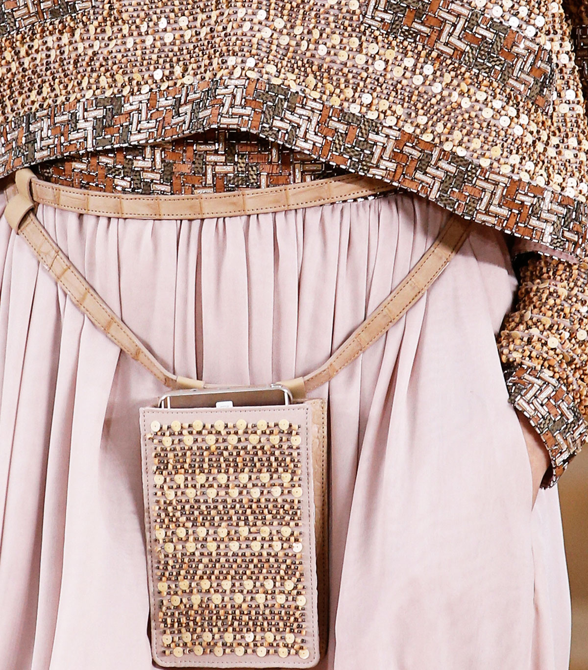 Chanel Spring 2016 Haute Couture sequins beads wood