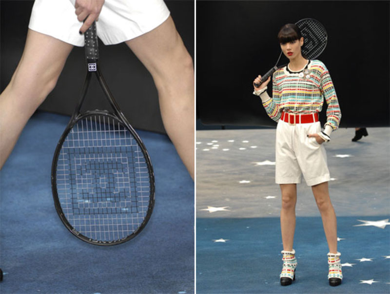 Chanel Spring Summer 2008 collection tennis racket black