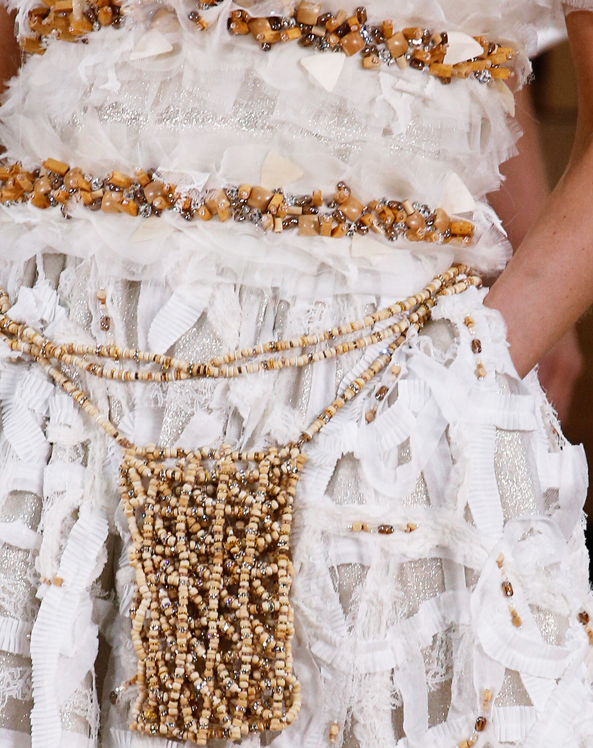 Chanel Summer 2016 Couture wood fabric scraps