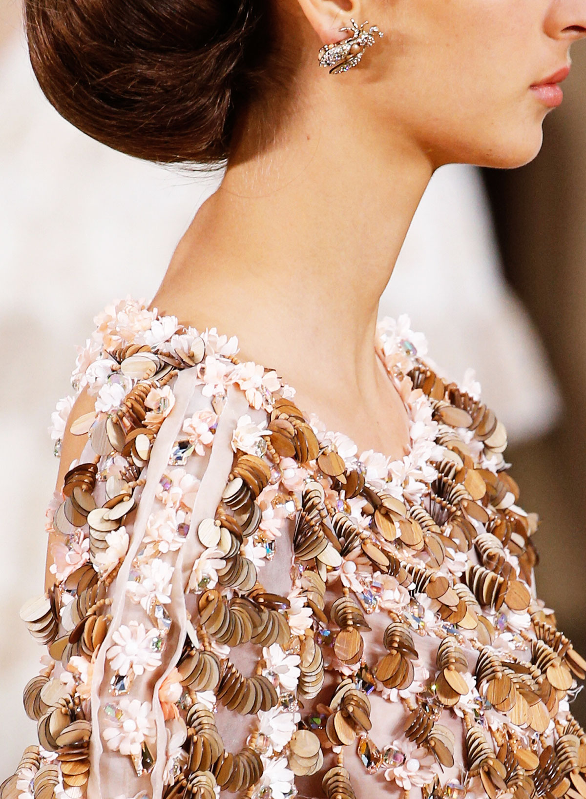 Chanel Summer 2016 Couture wood sequins