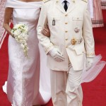 Charlene Wittstock white Armani wedding dress Albert de Monaco wedding