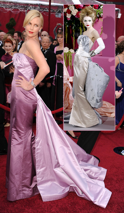 Charlize Theron Dior couture dress 2010 Oscars
