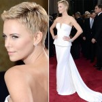 Charlize Theron Dior White dress 2013 Oscars