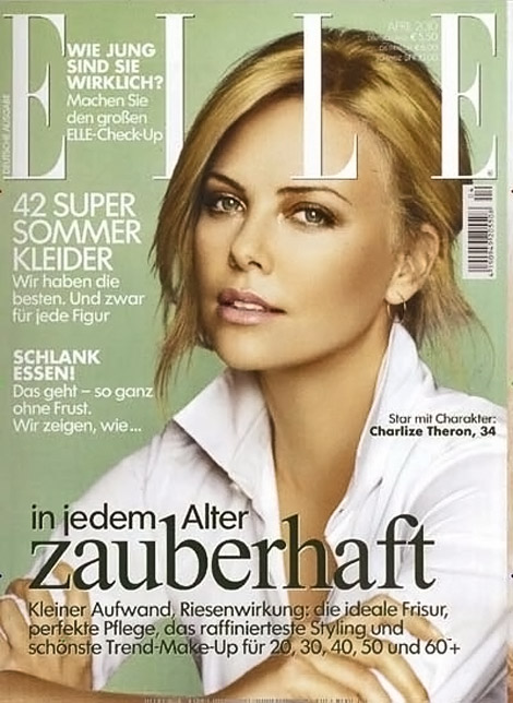Charlize Theron Elle Germany April 2010 cover