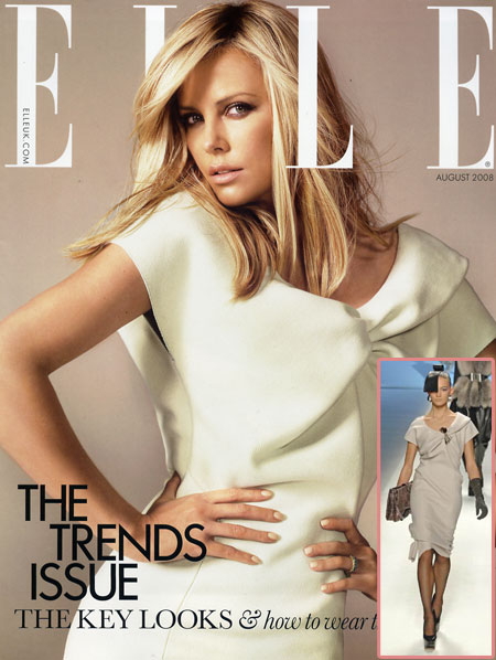 Charlize Theron Elle UK August 2008 Cover