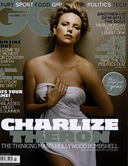 Charlize Theron GQ Magazine Cover July 2008