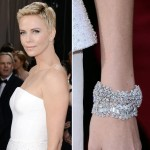 Charlize Theron jewerly 2013 Oscars
