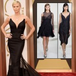 Charlize Theron Oscars black dress Dior Couture