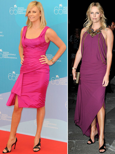 Charlize Theron Vs Katie Holmes Roger Vivier Shoes