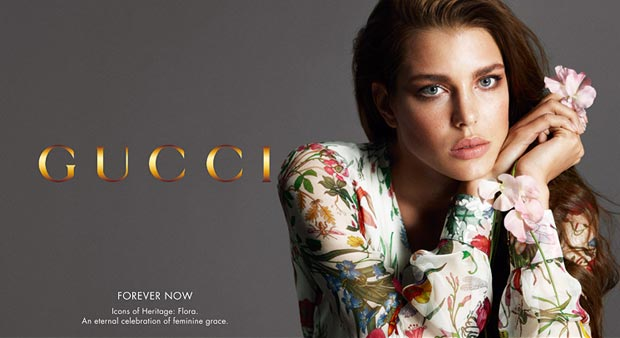 Charlotte Casiraghi Gucci Flora Forever Now