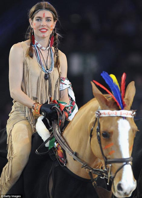 Charlotte Casiraghi's Native American Outfit For Gucci Horses Competition
