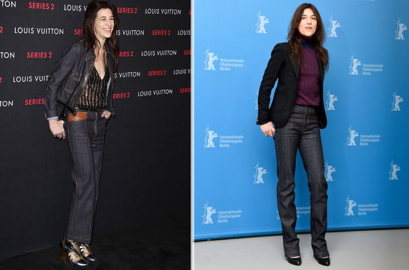 charlotte gainsbourg jeans Louis Vuitton 70s flare