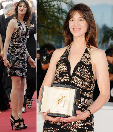 Charlotte Gainsbourg Palme D or Cannes 2009