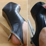Chau Har Lee metal heels detail