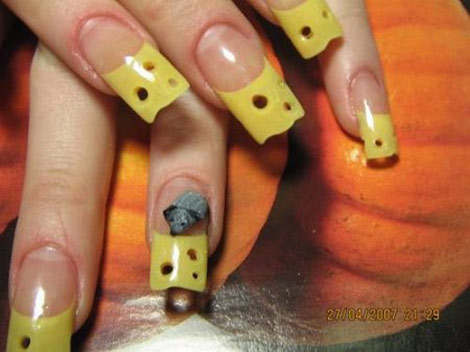 Cheese Nails For A Tasty Manicure