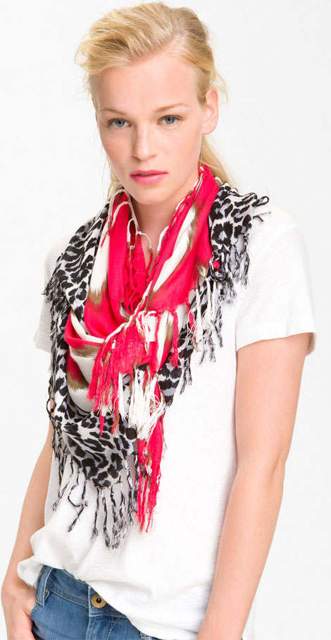 cheetah wild print summer scarf