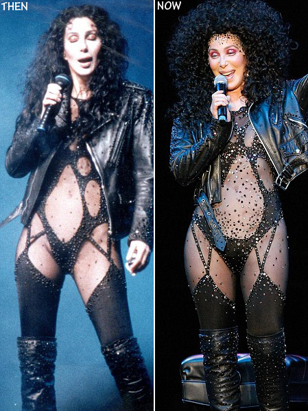 Cher sequined leotard