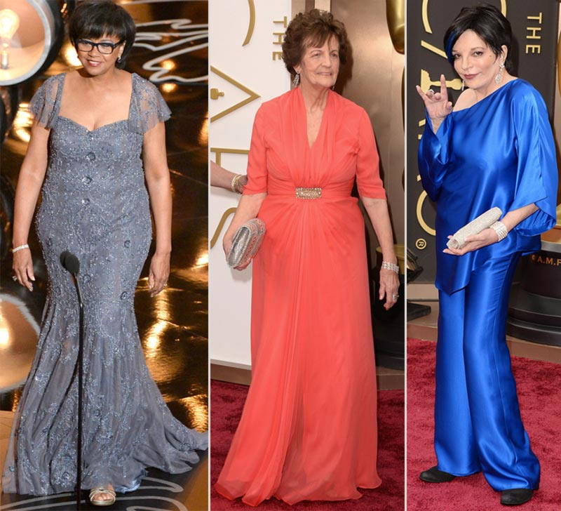 Cheryl Boone Isaacs Philomena Lee Liza Minnelli 2014 Oscars Red Carpet