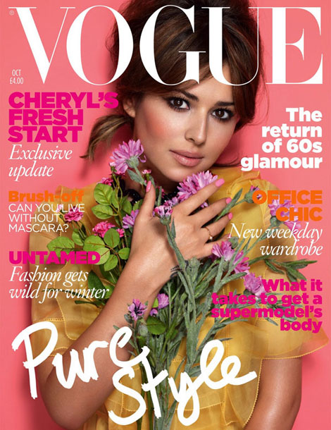 Cheryl Cole Vogue UK October 2010 cover