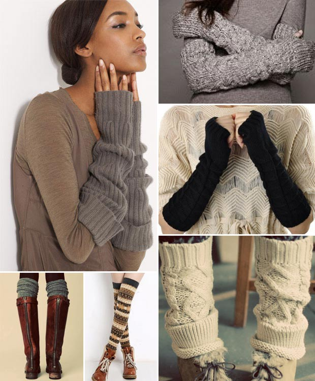 Chic and warm winter legs arms warmers