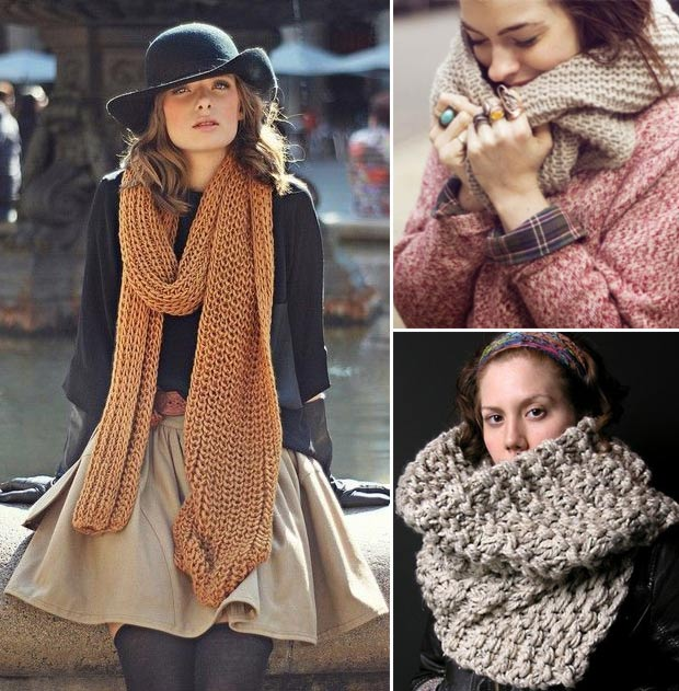 Chic and warm winter scarves