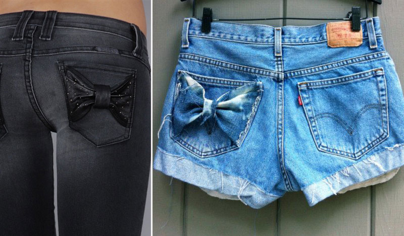 chic cool ways to wear bows pants pockets