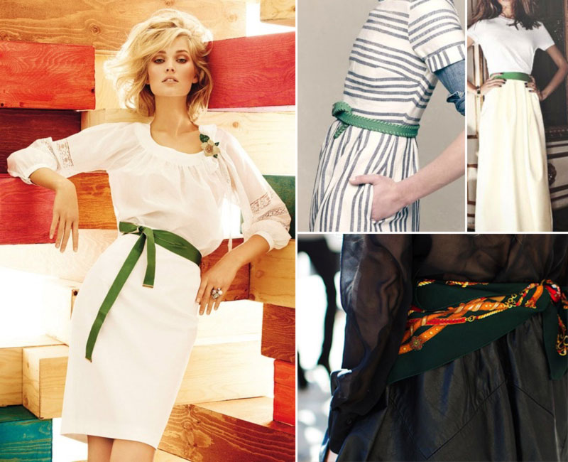 chic creative ways to wear green belts